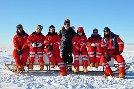 Isotopensampling Spätschicht: Johannes, Thomas, Katharina, Sepp, ich, Melanie und Jan