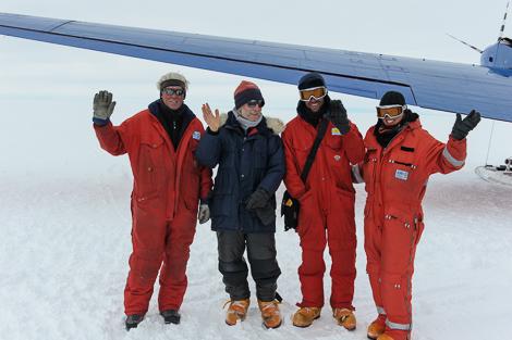 Sverrir, Sepp, Johannes und Katja - das CoFi Team